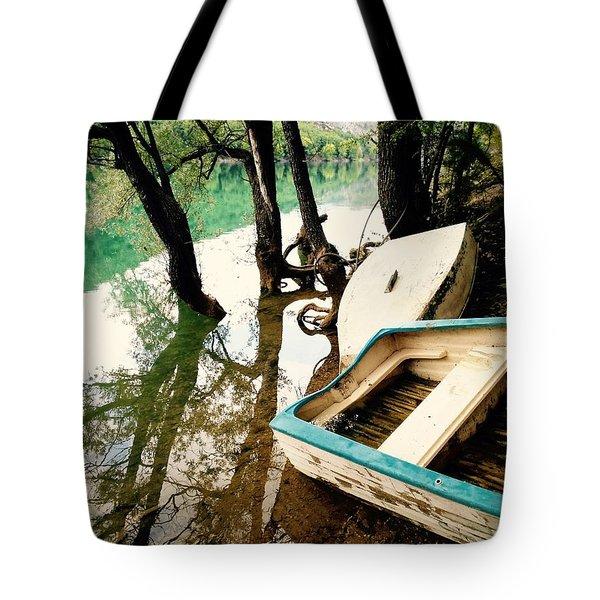 Forgotten Boats Tote Bag