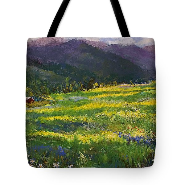 Forgotten Field Tote Bag by David Patterson