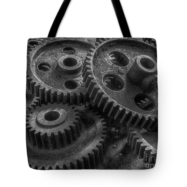 Tote Bag featuring the photograph Forgotten Gears by ELDavis Photography