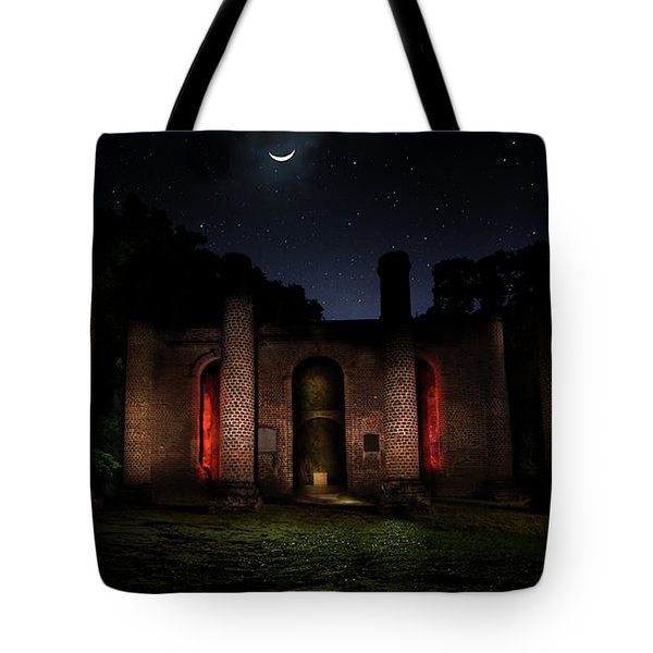 Tote Bag featuring the photograph Forgotten Gods by Mark Andrew Thomas
