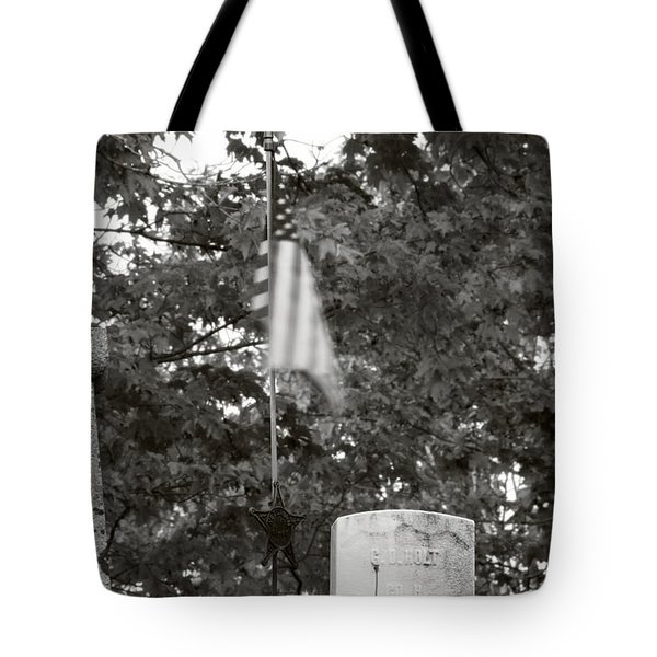 Tote Bag featuring the photograph Forgotten Hero by Greg DeBeck