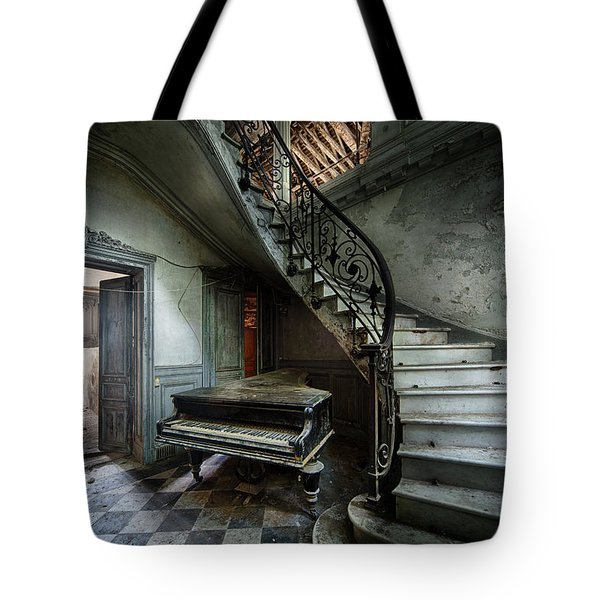 The Sound Of Decay - Abandoned Piano Tote Bag