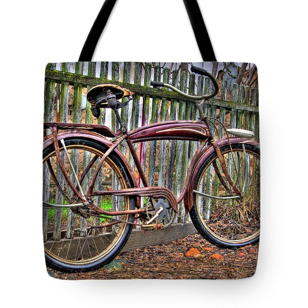 Tote Bag featuring the photograph Forgotten Ride 1 by Jim and Emily Bush