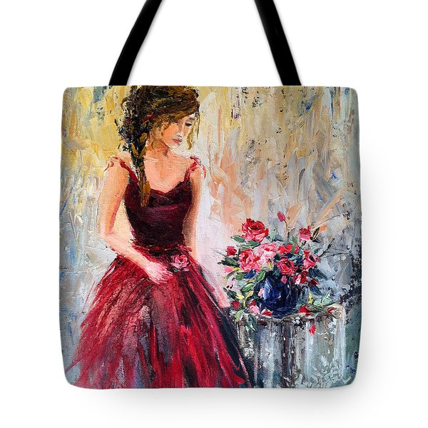 Tote Bag featuring the painting Forgotten Rose by Jennifer Beaudet