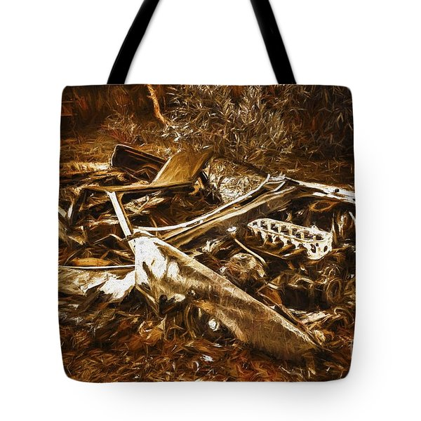 Forgotten Wheels Of Yesterday Tote Bag