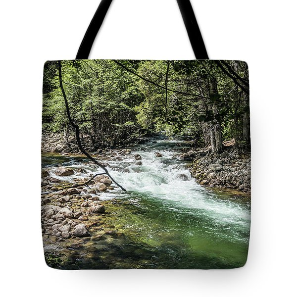 Tote Bag featuring the photograph Fork In The Road- by JD Mims
