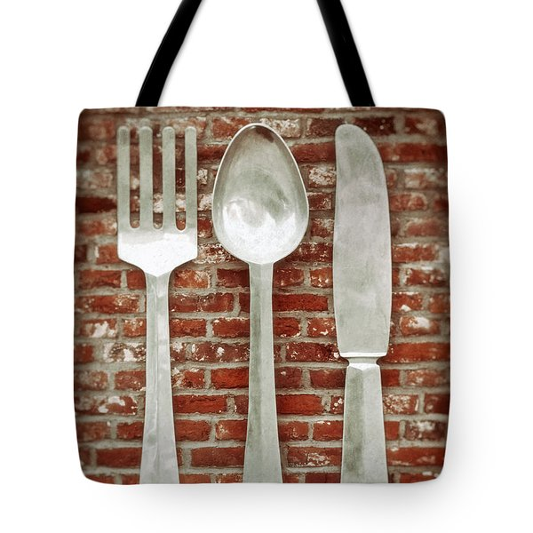 Fork Spoon Knife Tote Bag by Wim Lanclus