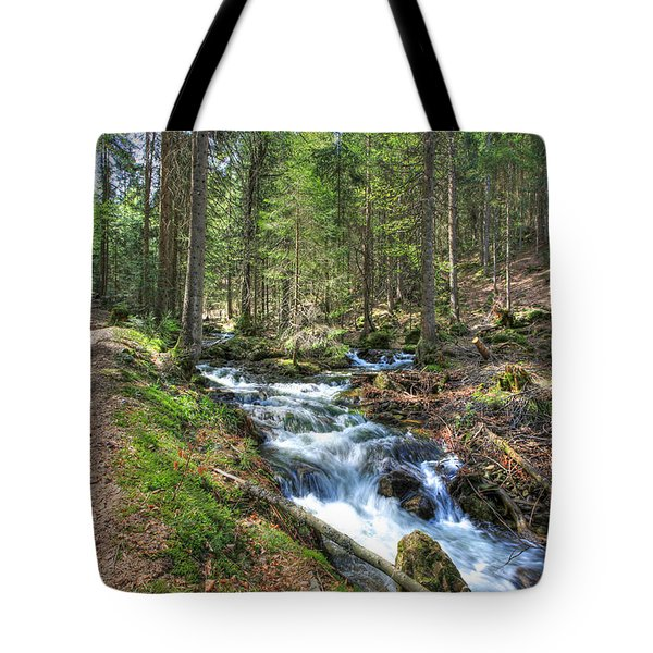 Forked Stream Tote Bag