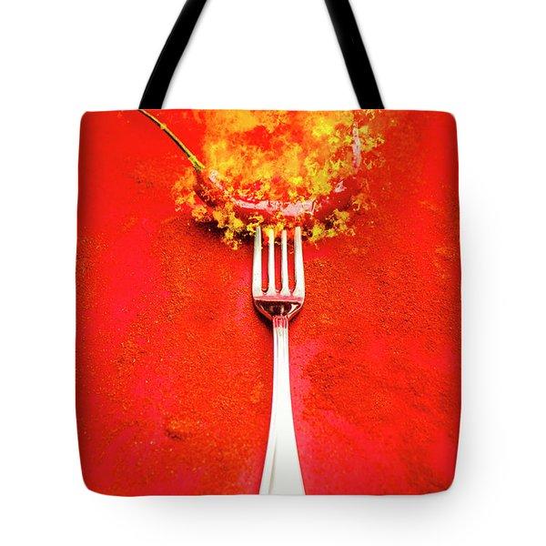 Forking Hot Food Tote Bag