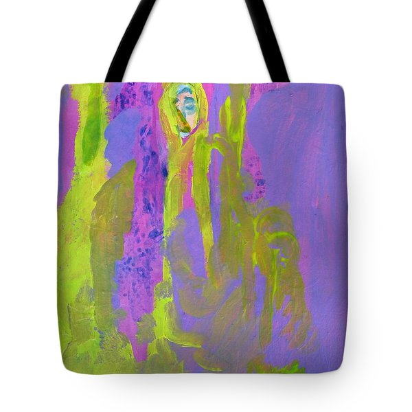 Forlorn In Purple And Yellow Tote Bag