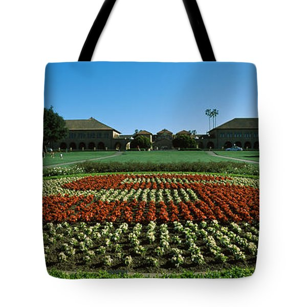 Formal Garden At The University Campus Tote Bag by Panoramic Images