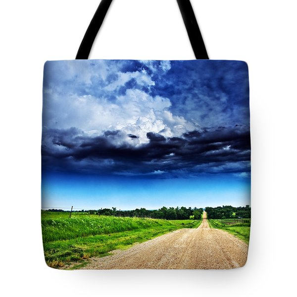 Forming Clouds Over Gravel Tote Bag