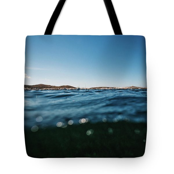 Fornells Bay Tote Bag