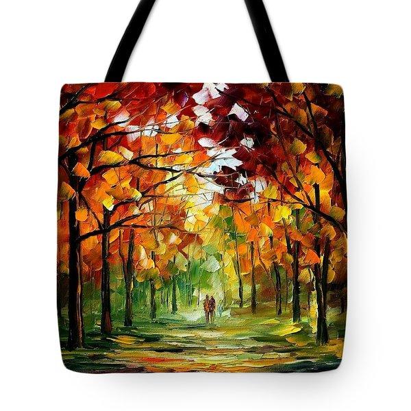 Forrest Of Dreams Tote Bag by Leonid Afremov