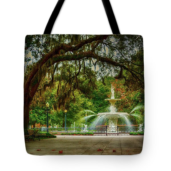 Forsyth Park Fountain Tote Bag