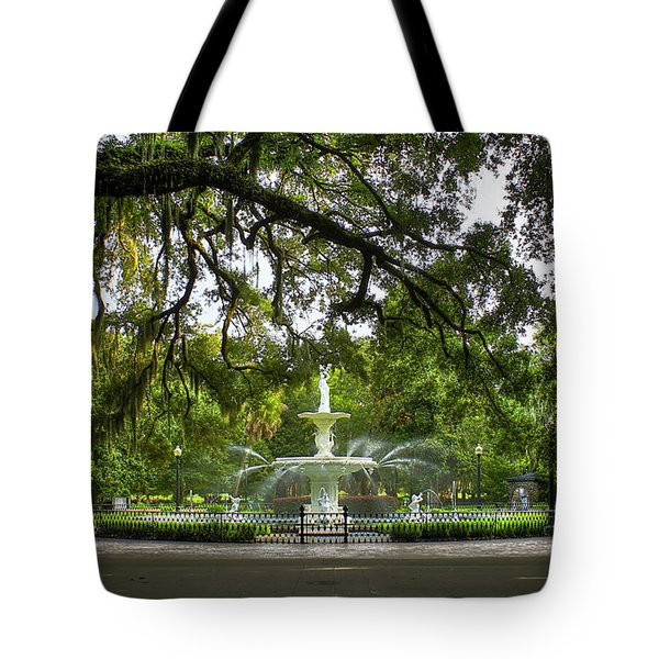 Forsyth Park Fountain Historic Savannah Georgia Tote Bag