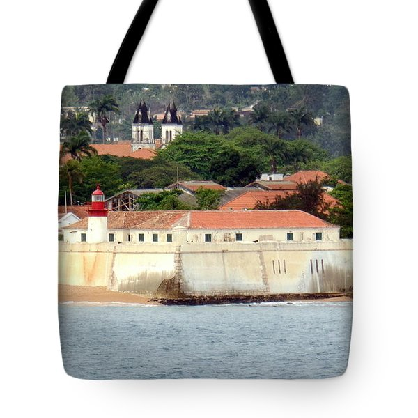 Fort At Sao Tome W. Africa Tote Bag
