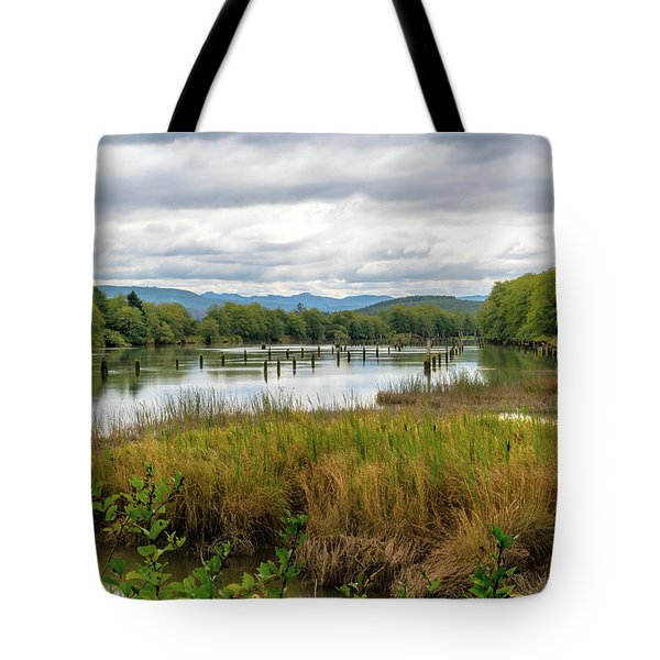 Tote Bag featuring the photograph fort Clatsop on the Columbia River by Michael Hope