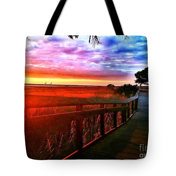 Tote Bag featuring the painting Fort Fisher  by Amy Sorrell