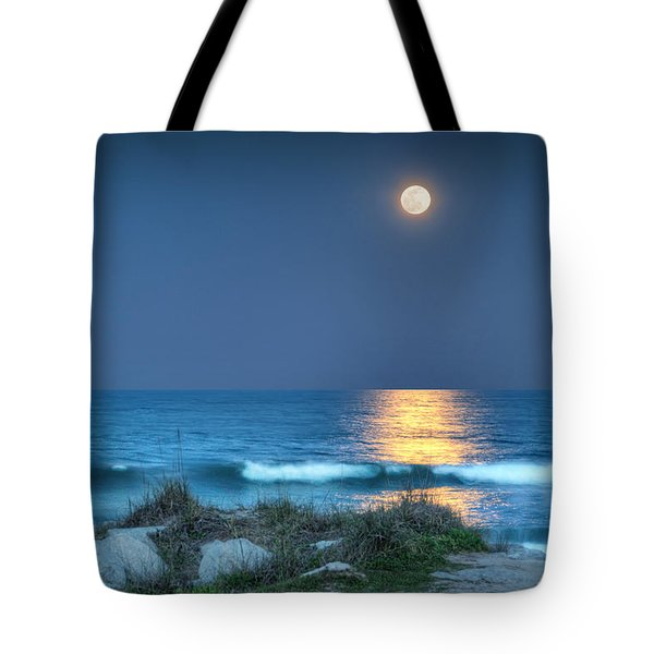 Fort Fisher Moonbeam Tote Bag