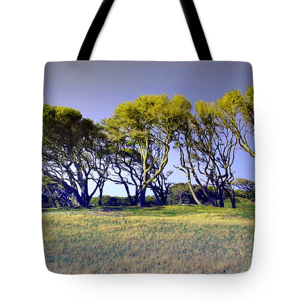 Tote Bag featuring the photograph Fort Fisher Trees by Phil Mancuso