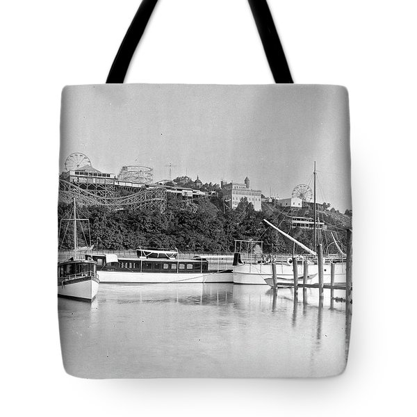 Fort George Amusement Park Tote Bag by Cole Thompson