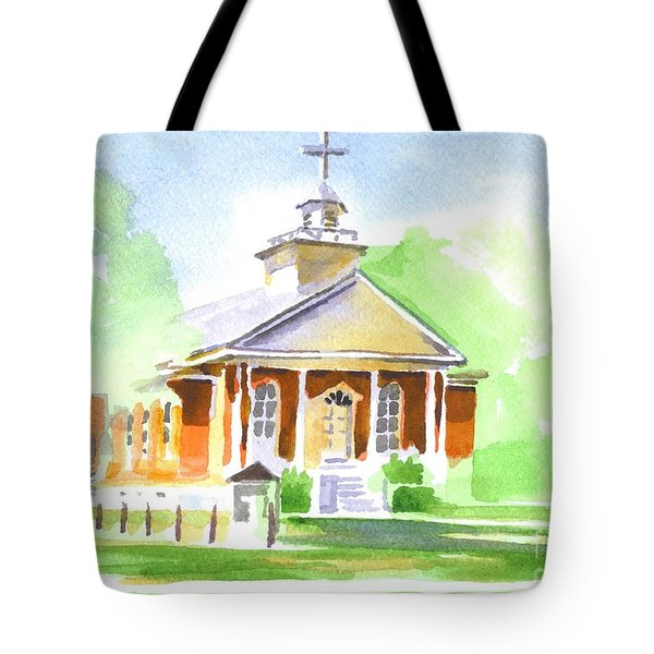 Tote Bag featuring the painting Fort Hill Methodist Church 2 by Kip DeVore