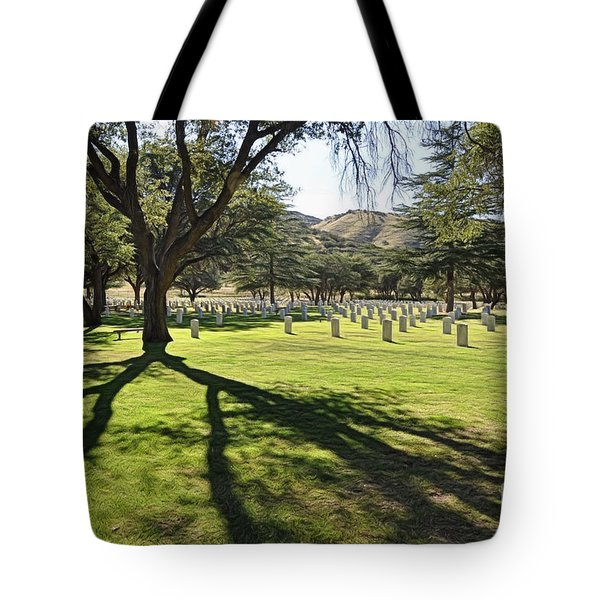 Tote Bag featuring the photograph Fort Huachuca Post Cemetery by Gina Savage