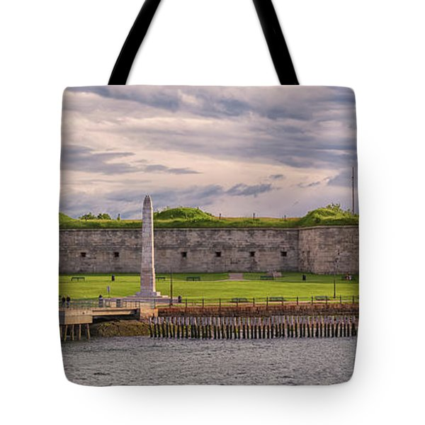 Fort Independence At Castle Island Tote Bag