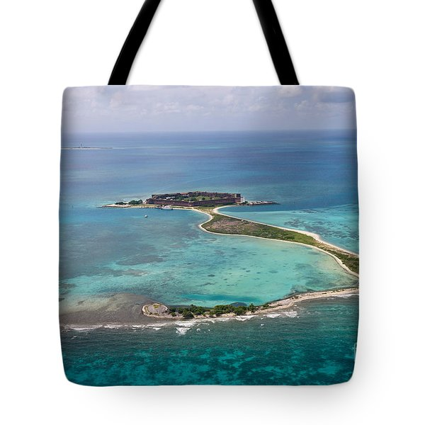 Fort Jefferson Aerial View Dry Tortugas National Park Tote Bag
