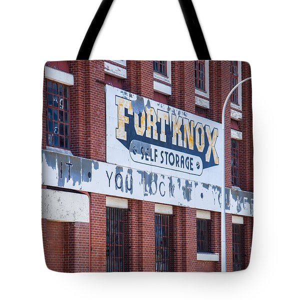 Tote Bag featuring the photograph Fort Knox by Serene Maisey