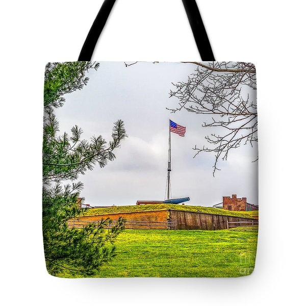 Tote Bag featuring the photograph Fort Mchenry National Monument  by Nick Zelinsky