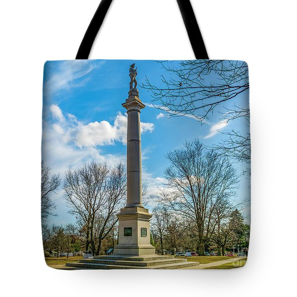 Tote Bag featuring the photograph Fort Mercer Monument  by Nick Zelinsky
