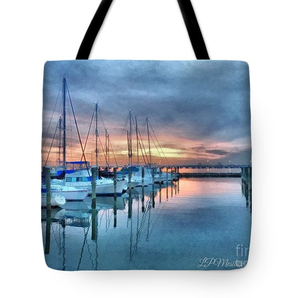 Tote Bag featuring the photograph Fort Monroe Afire by Linda Mesibov