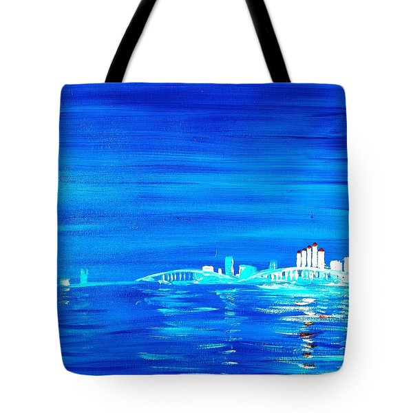 Fort Myers By Night Tote Bag