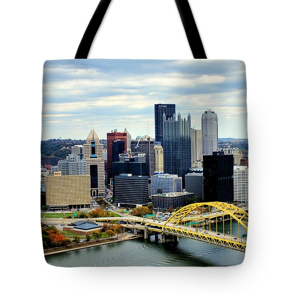 Fort Pitt Bridge Tote Bag