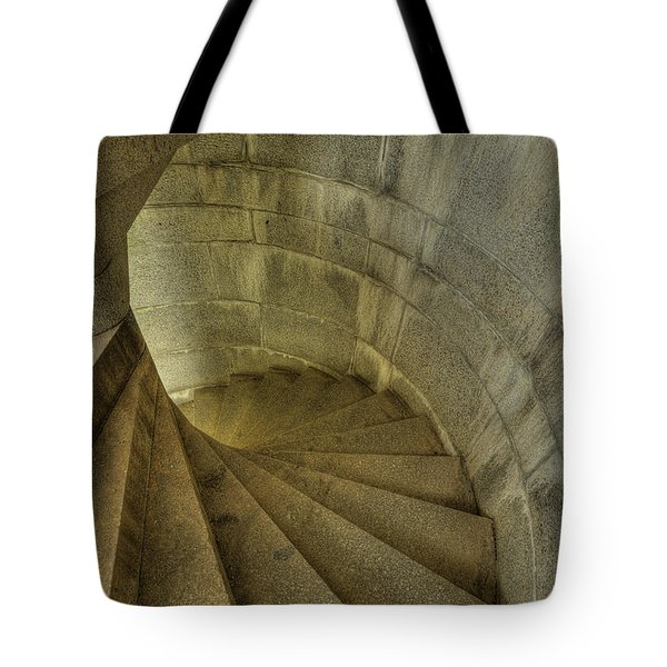 Fort Popham Stairwell Tote Bag