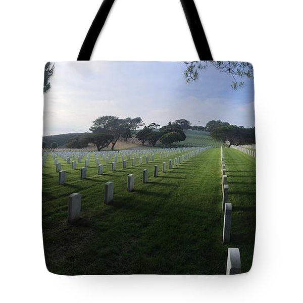 Tote Bag featuring the photograph Fort Rosecrans National Cemetery by Lynn Geoffroy