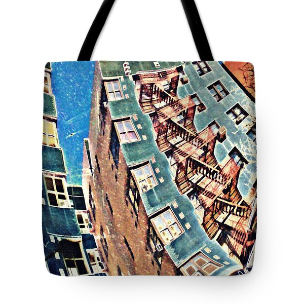 Fort Washington Avenue Building Tote Bag by Sarah Loft