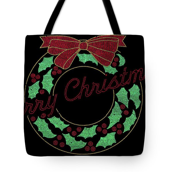 Fort Wayne Christmas Wreath Tote Bag