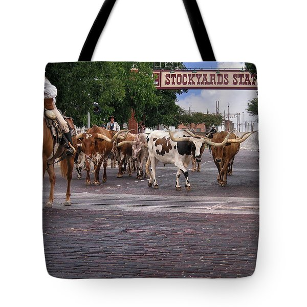 Fort Worth Cattle Drive Tote Bag