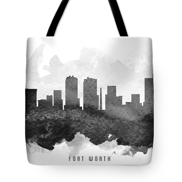 Fort Worth Cityscape 11 Tote Bag