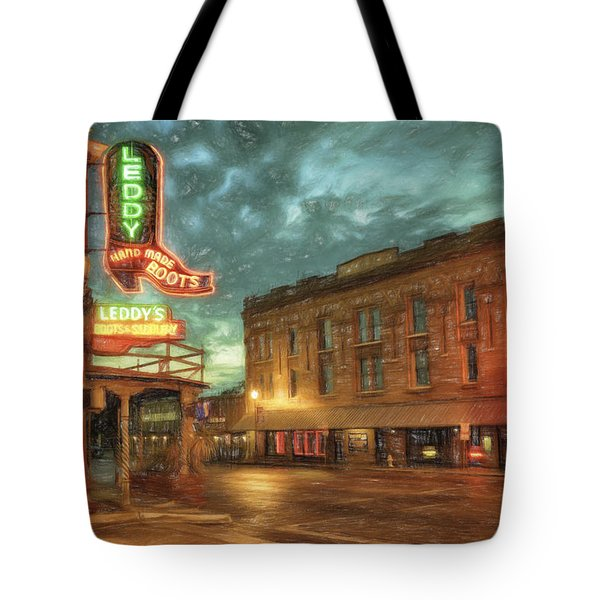 Fort Worth Impressions Main And Exchange Tote Bag