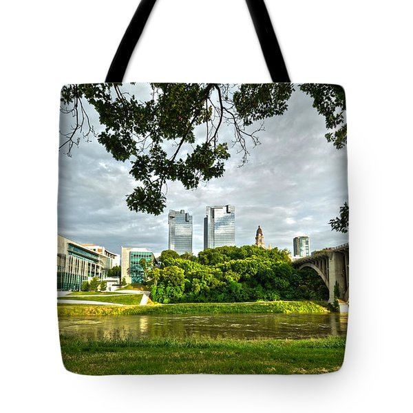 Fort Worth Skyline 1 Tote Bag