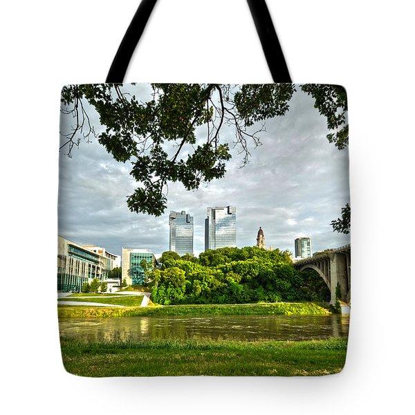 Fort Worth Skyline 1 Tote Bag