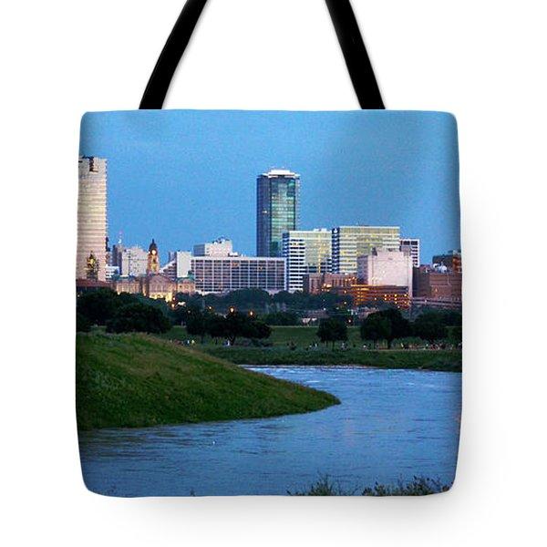 Fort Worth Skyline 2 Tote Bag