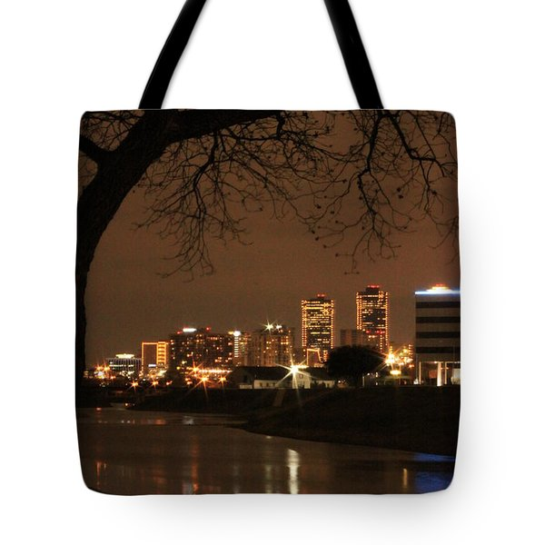 Fort Worth Skyline Tote Bag by Jill Smith