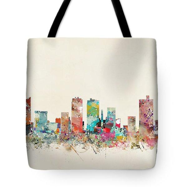 Fort Worth Texas Skyline Tote Bag