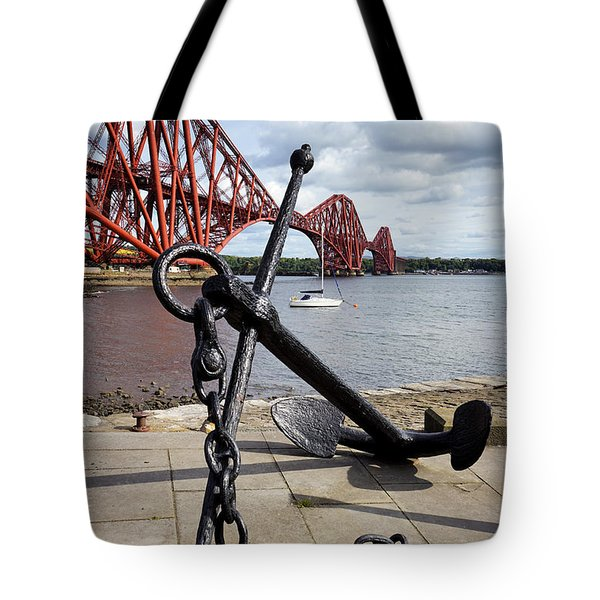 Tote Bag featuring the photograph Forth Bridge by Jeremy Lavender Photography