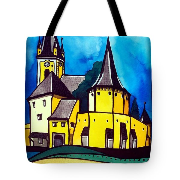 Fortified Medieval Church In Transylvania By Dora Hathazi Mendes Tote Bag by Dora Hathazi Mendes